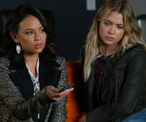 pretty little liars, janel parrish, and hanna marin image