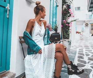 fashion, look, and mykonos image