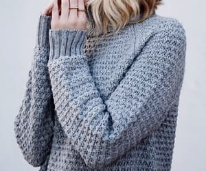 sweater, blonde, and girl image