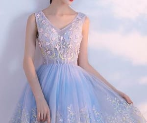 v-neck homecoming dresses and blue homecoming dress image