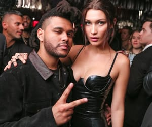 model, xo, and the weeknd image