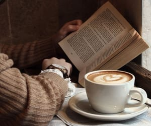 reading, 📖, and ☕ image