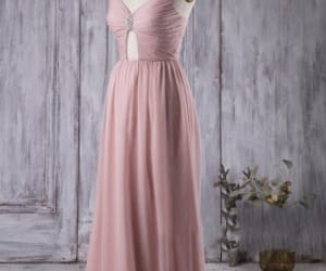 bridesmaid dresses, v neck bridesmaid dresses, and rose bridesmaid dresses image