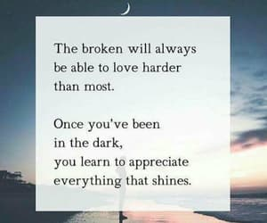 quotes, broken, and dark image