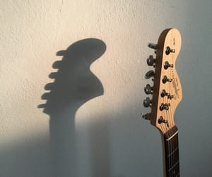 bed, creative, and electric guitar image