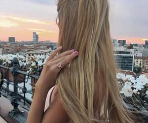 blond girl, blonde, and hair image