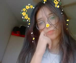 flowers, glasses, and hair image
