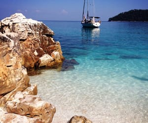beach, discover, and Greece image
