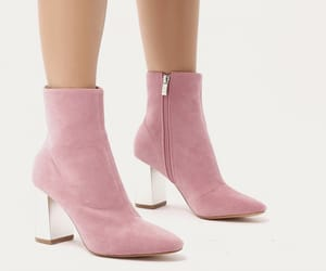 ankle boots, baby pink, and chic image