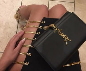 chains, clutch, and expensive image