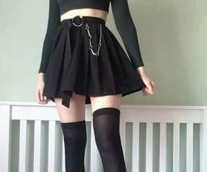 black, outfit, and back to school image