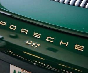 green, porsche, and car image