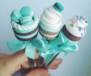 food, blue, and cake image