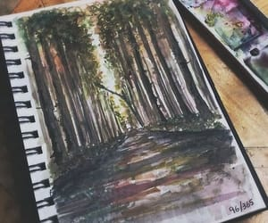art, colour, and water colour image