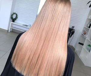 blonde, straight hair, and hair goals image