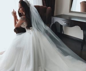wedding, beauty, and dress image
