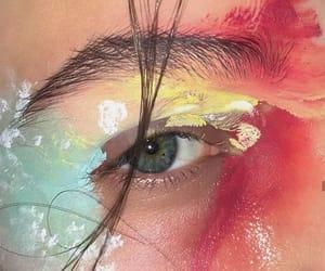 art, blue, and eyes image