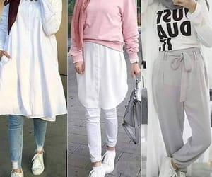 dress, hijab, and spring image