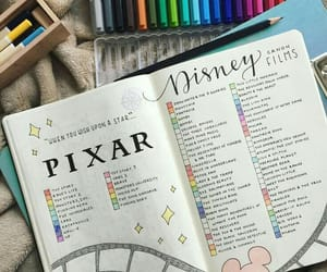 bullet, journal, and pixar image