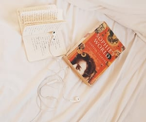 books, grunge, and headphone image