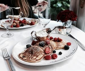 brunch, food, and berries image