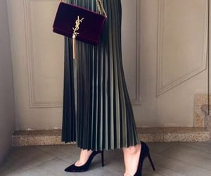 burgundy, classy, and pleated skirt image