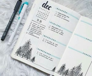 bullet journal, december, and journal image