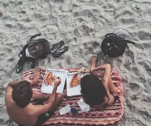 beach, boy, and couples image