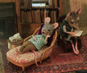 animal, mouse, and therapist image