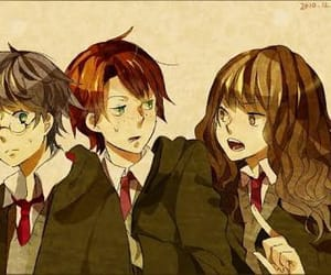 harrypotter, goldentrio, and ronweasley image
