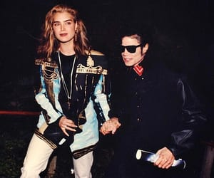 brooke shields, king of pop, and michael image
