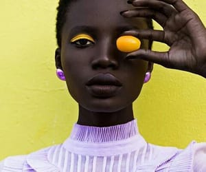 beauty, model, and yellow image