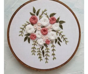 art, embroidery, and floral image