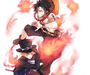 ace, anime, and fire image