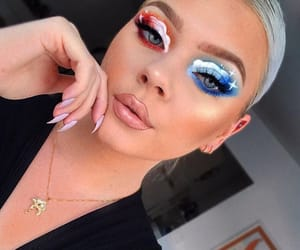 site models, beautiful lady, and makeup goals image
