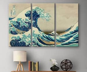 decor, The Great Wave, and office image