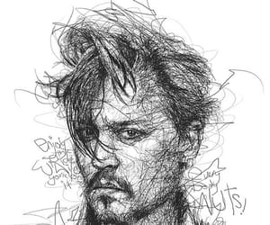 johnny depp, depp, and drawing image