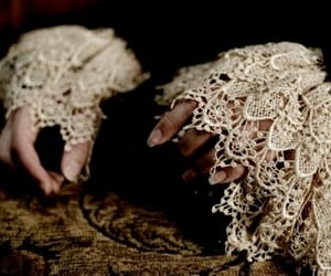 lace, victorian, and hands image