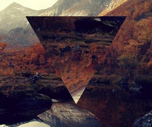 triangle, mountains, and nature image