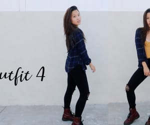 asian, flannel, and model image