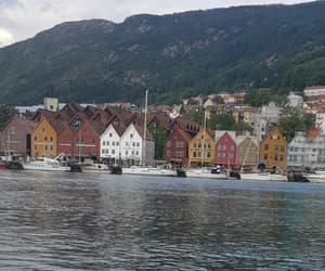 bergen, hus, and fjord image
