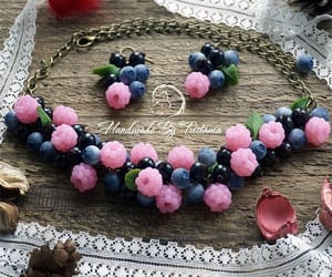 berries, necklace, and berry image