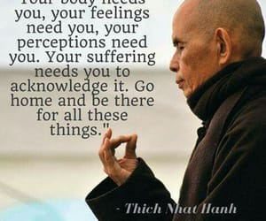 body, Thich Nhat Hanh, and feelings image