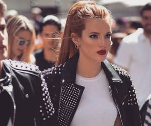 bella thorne, fashion, and black image