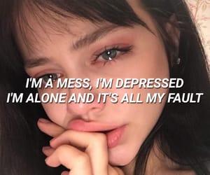 aesthetics, alone, and depressed image