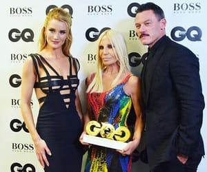 Donatella Versace, model, and rosie huntington whiteley image
