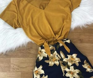 clothes, fashion, and yellow image