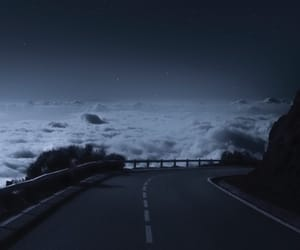clouds, downhill, and highways image