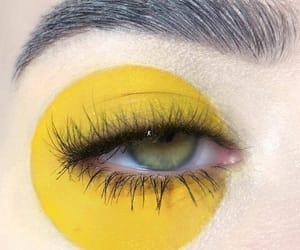 eye, yellow, and aesthetic image