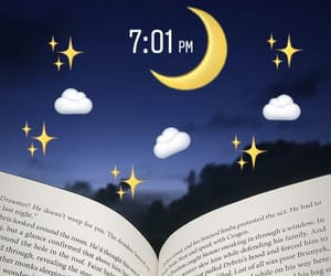 book, night, and sky image